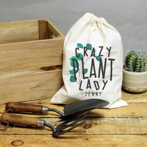 Personalised Crazy Plant Lady Garden Tool Set