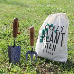 Personalised Crazy Plant Man Garden Tool Set