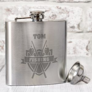 Personalised Fishing Hip Flask