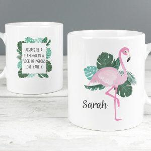 Personalised Flamingo Mug