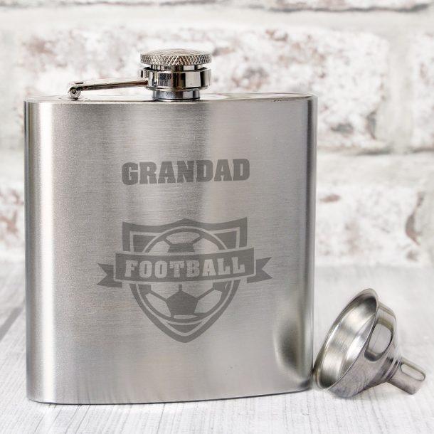 Personalised Football Hip Flask