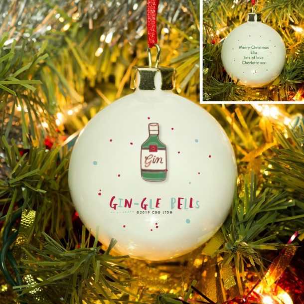 Personalised HotchPotch Gin-gle Bells Bauble