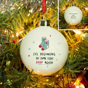 Personalised HotchPotch Sock's Again Bauble