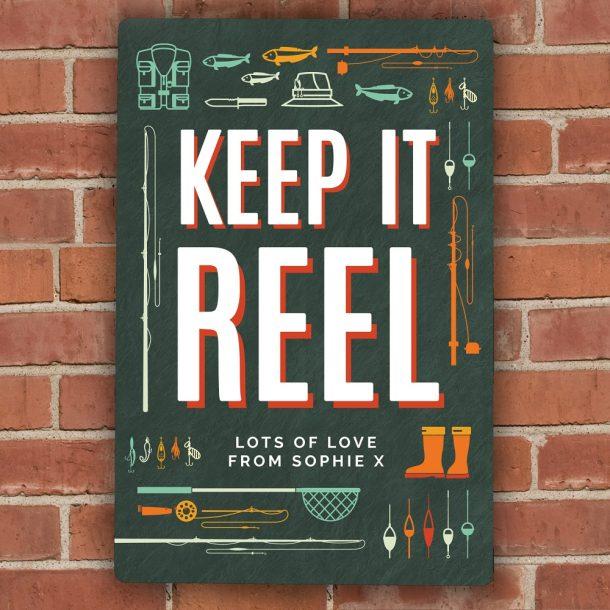 Personalised Keep It Reel Metal Sign