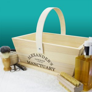 Personalised Manctuary Wooden Trug
