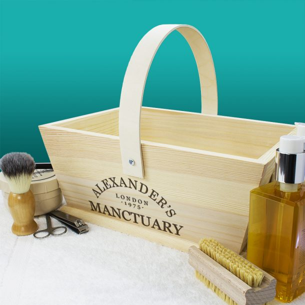Personalised Manctuary Wooden Trug