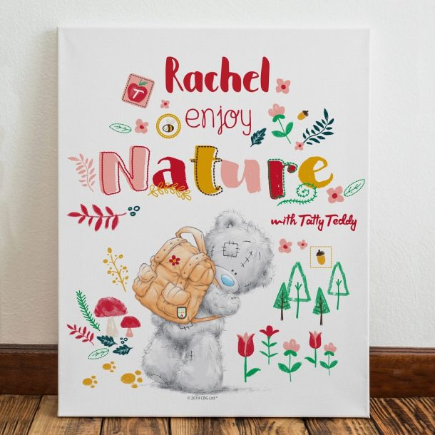 Personalised Me To You Enjoy Nature Canvas