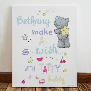 Personalised Me To You Pastel Pop Canvas