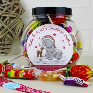 Personalised Me To You Reindeer Sweet Jar