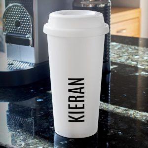 Personalised Name Double Walled Travel Mug