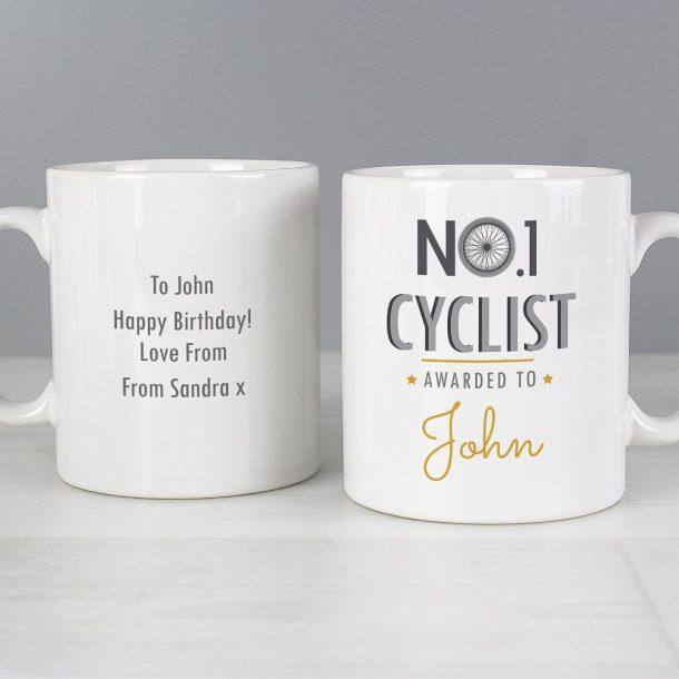 Personalised No.1 Cyclist Mug