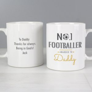 Personalised No.1 Footballer Mug