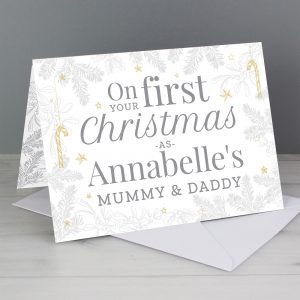 Personalised 'On Your First Christmas As' Card
