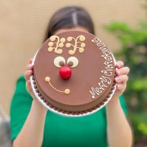 Personalised Reindeer Smash Cake
