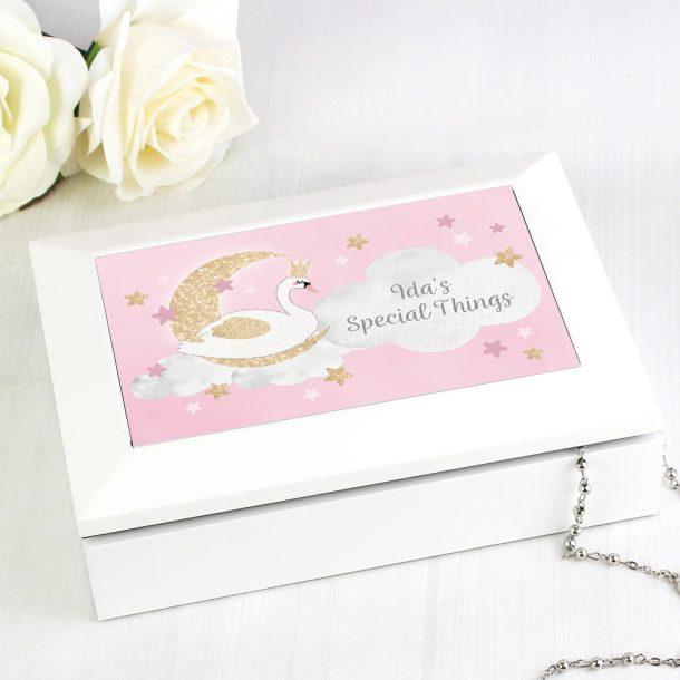 Personalised Swan Lake Jewellery Box