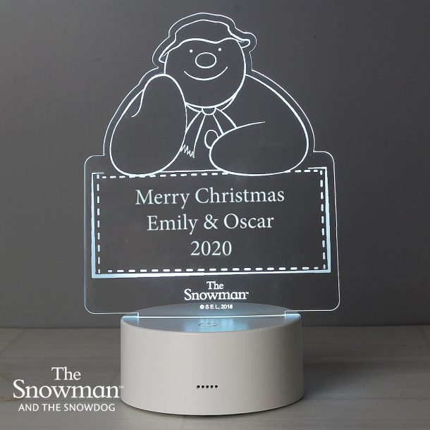Personalised The Snowman LED Colour Changing Decoration