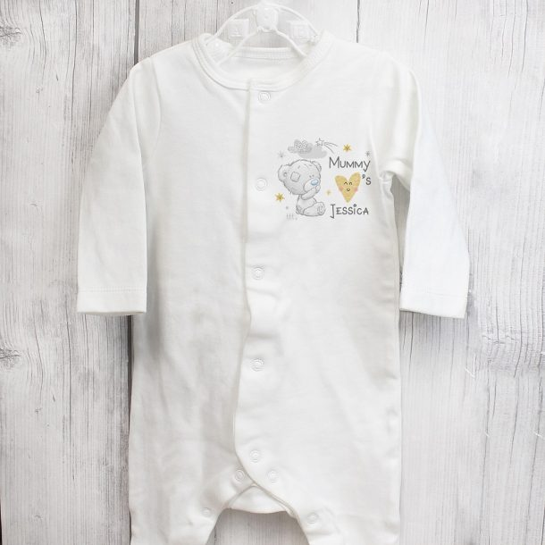 Personalised Tiny Tatty Teddy I Heart 0-3 Months Baby Grow
