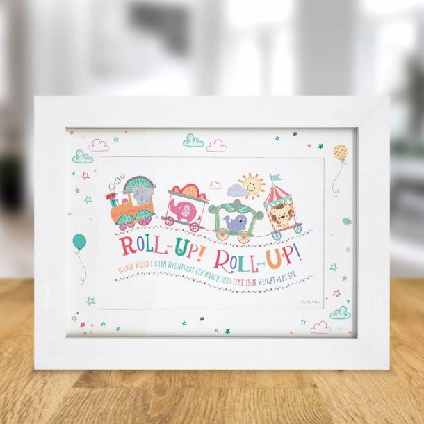 Personalised Tiny Tatty Teddy Little Circus A4 Framed Print.