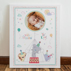 Personalised Tiny Tatty Teddy Little Circus Photo Canvas