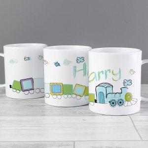 Personalised Train Plastic Mug