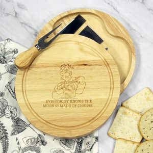 Personalised W & G ''Moon Made Of Cheese' Cheese Board Set