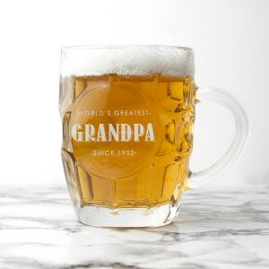 Personalised World's Greatest Dimpled Beer Glass