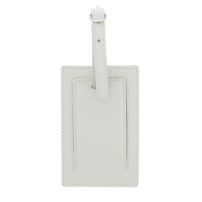 Personalised Classic Initials Cream Luggage Tag