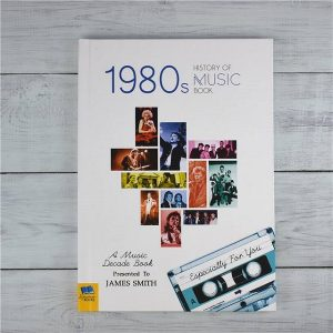 Personalised 1980's History Of Music Book