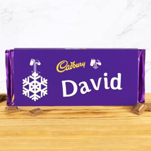 Personalised 360g Christmas Snowflake Cadbury Dairy Milk