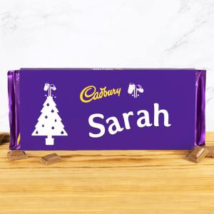 Personalised 360g Christmas Tree Cadbury Dairy Milk