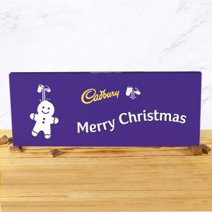 Personalised 850g Cadbury Dairy Milk Gingerbread Man