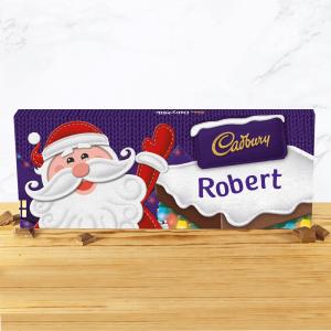Personalised 850g Cadbury Dairy Milk Santa