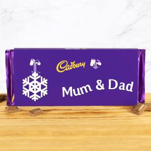 Personalised 850g Cadbury Dairy Milk Snowflake