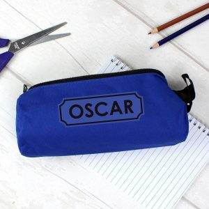 Personalised Blue Pencil Case
