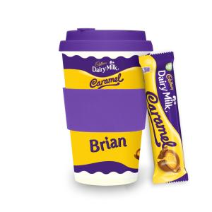 Personalised Cadbury Dairy Milk Caramel Ecoffee Cup