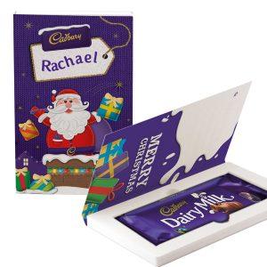 Personalised Cadbury Dairy Milk Chocolate Christmas Card - Chimney