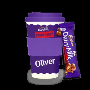 Personalised Cadbury Dairy Milk Fruit & Nut Ecoffee Cup