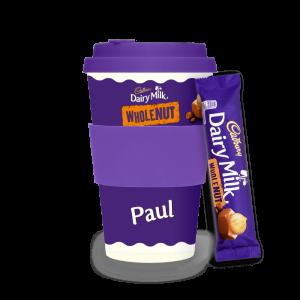 Personalised Cadbury Dairy Milk Wholenut Ecoffee Cup