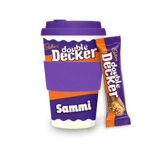 Personalised Cadbury Double Decker Ecoffee Cup