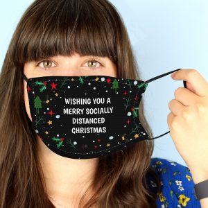 Personalised Christmas Pattern Face Mask