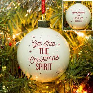 Personalised Christmas Spirit Bauble
