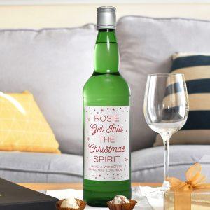 Personalised Christmas Spirit Gin
