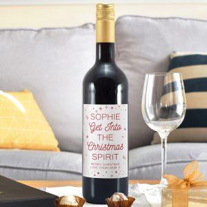 Personalised Christmas Spirit Mulled Wine