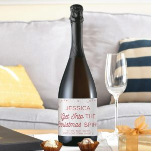 Personalised Christmas Spirit Prosecco