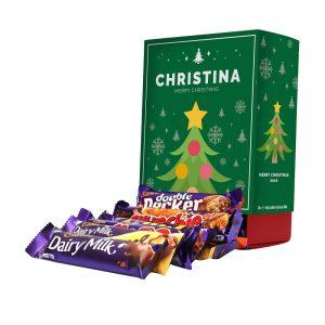 Personalised Christmas Tree Cadbury Mixed Favourites Box