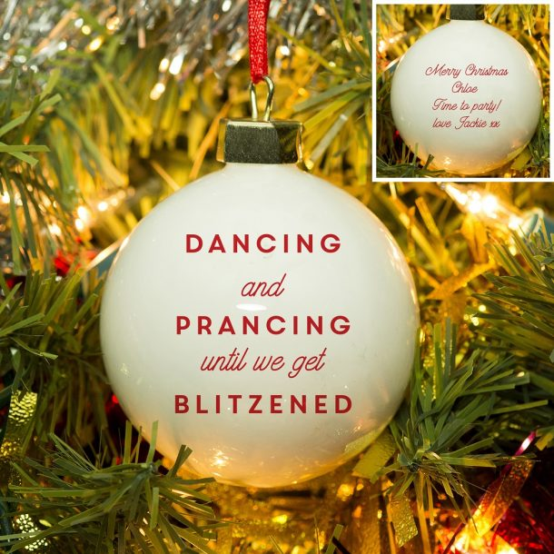 Personalised Get Blitzened Bauble
