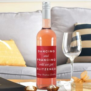 Personalised Get Blitzened Rose Wine