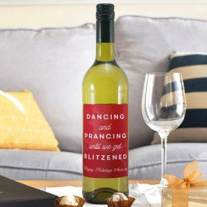 Personalised Get Blitzened White Wine