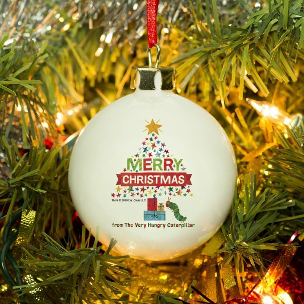 Personalised Hungry Caterpillar Christmas Tree Bauble