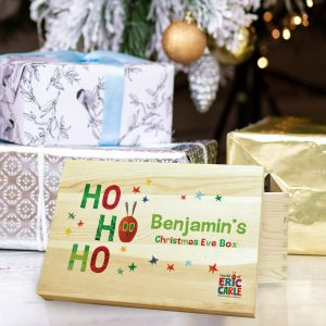 Personalised Hungry Caterpillar Ho Ho Ho Christmas Eve Box